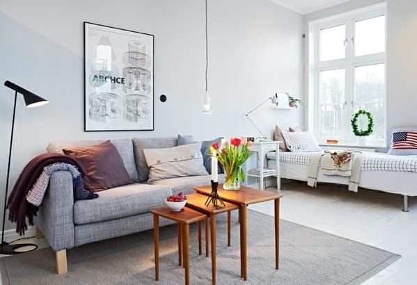 Single Wohnung Einrichten Apartment Sofa