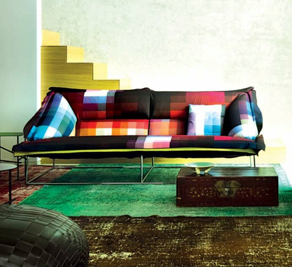 Sofa Mit Relaxfunktion Das Pixel Sofa Von Cristian Zuzunaga