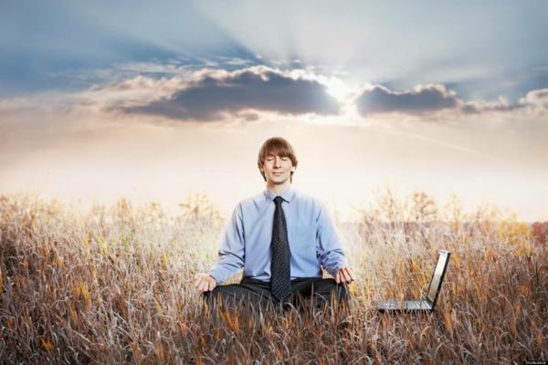 stress abbauen büro meditation