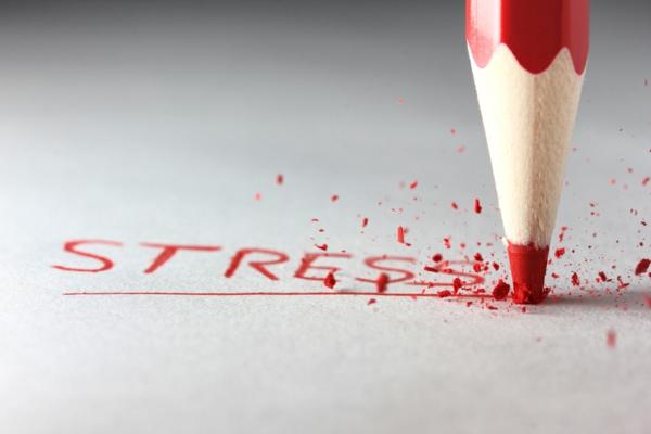 stress abbauen gestresst roter bleistift