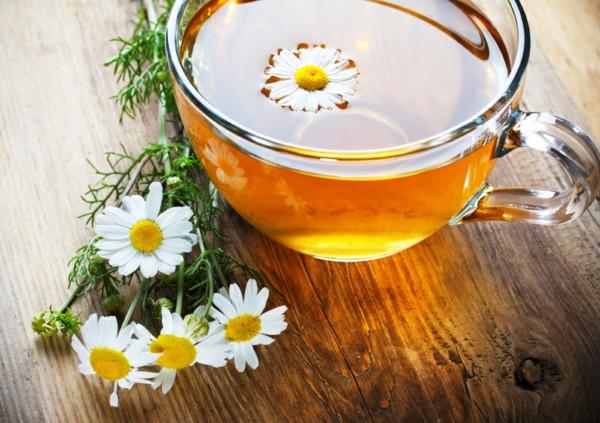 stress abbauen kamillentee trinken