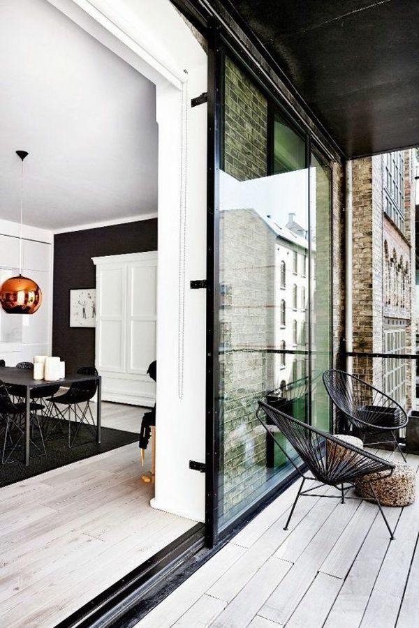 terrassenbelag holz außenmöbel moderne stadtwohnung