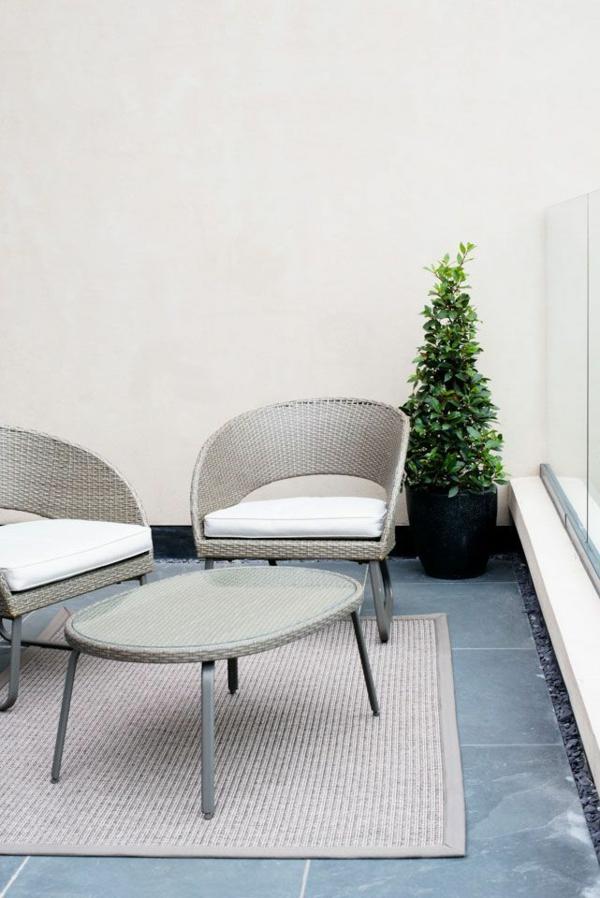 terrassenbelag vinyl bodenbelag rattanmöbel teppich