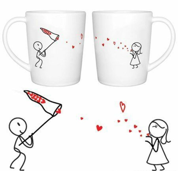 valentinstag männer kaffee porzellan tassen