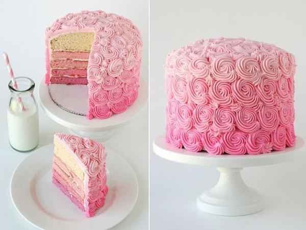 valentinstag rezepte rosa torte