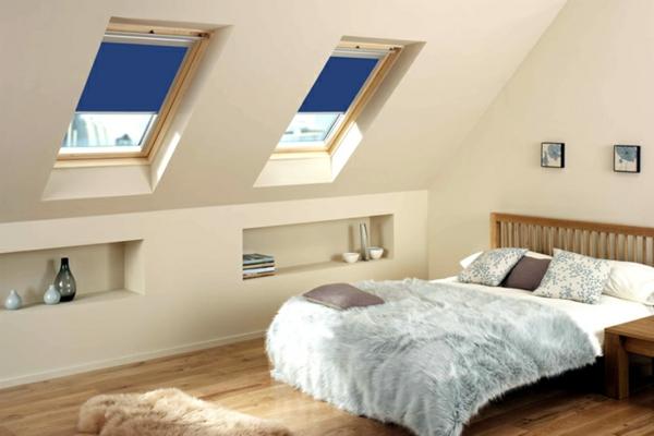 günstig velux dachfenster rollos blau farben
