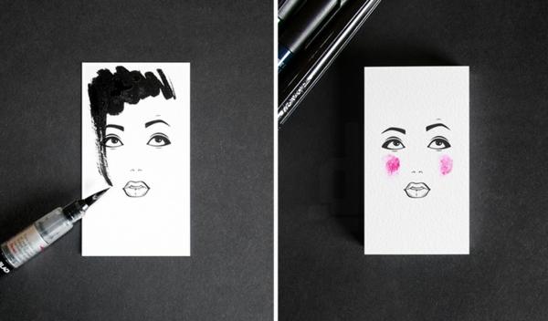 Visitenkarten Gestalten Ein Kreatives Projekt Von Lesha