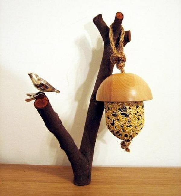 vogelhäuschen bauen zweige natur form materialien