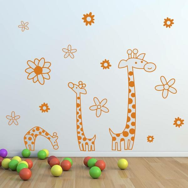 wandsticker kinderzimmer giraffen kleinkinder spielzeuge