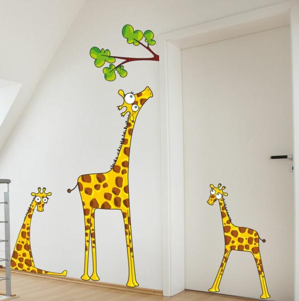 wandsticker kinderzimmer giraffen schöne wandgestaltung