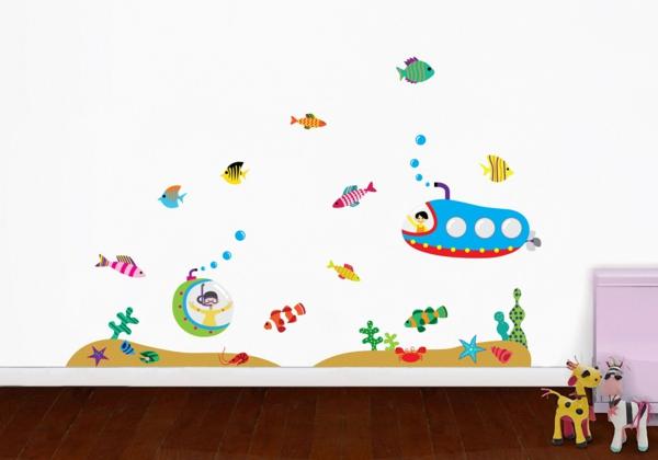 wandsticker kinderzimmer unterwasserwelt kleinkinder