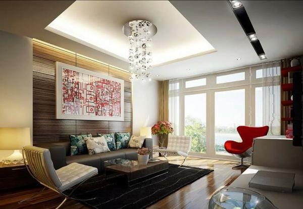 wohnzimmer Innendesign Idee  deckenbeleuchtung