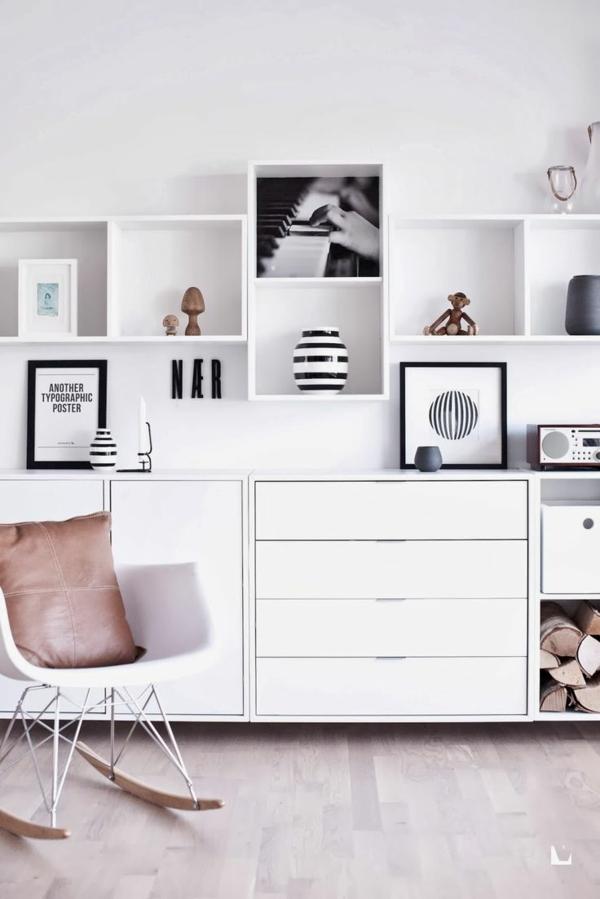 wohnzimmer Innendesign Ideen lebensstil kommode