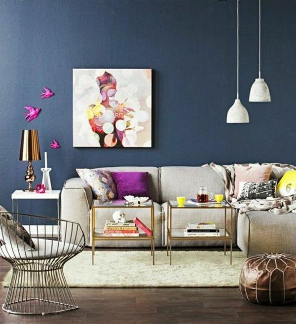 wohnzimmer Ideen trends matt wand Innendesign