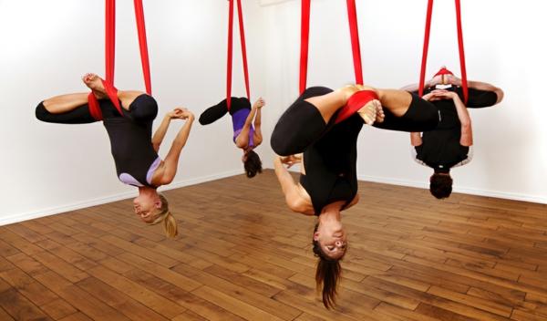 yoga Kalorienverbrauch beim Sport aerial yoga