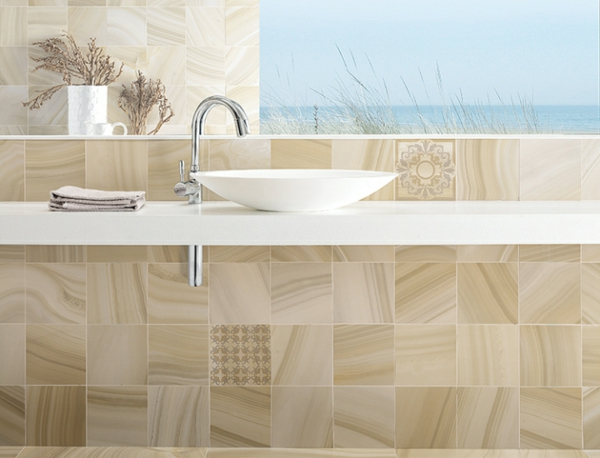 badezimmer spüle waschbecken beige farben