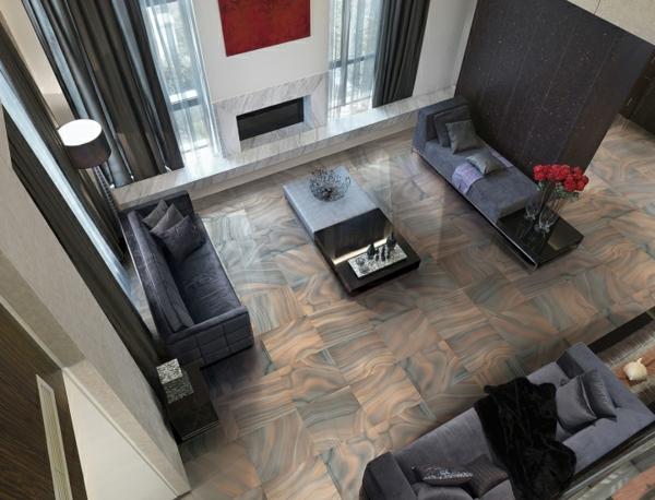 wohnzimmer und kamin fliesenboden modern wohnzimmer