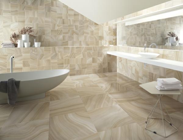 geschmeidig badezimmer einrichtung badewane waschbecken spiegel