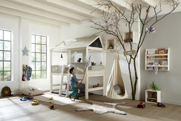 ausgefallene kinderbetten lassen ihre kinder wie im 7 himmel schlafen. Black Bedroom Furniture Sets. Home Design Ideas