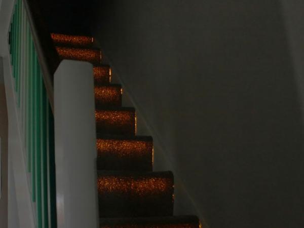 Badezimmer Boden faser optik treppe