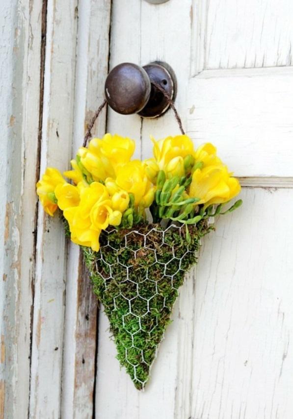 Frühling Basteln bastelideen türkranz