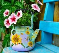 Blumentöpfe für draußen aus vorhandenen Materialien basteln