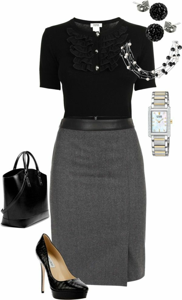 Business Mode Damen Business Outfit Frau rock accessoires