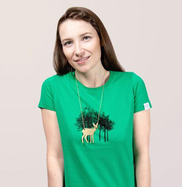 T-Shirts designen damen wald Coole