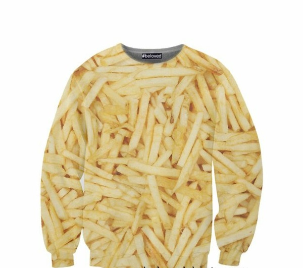 Coole lecker T-Shirts designen pom frites