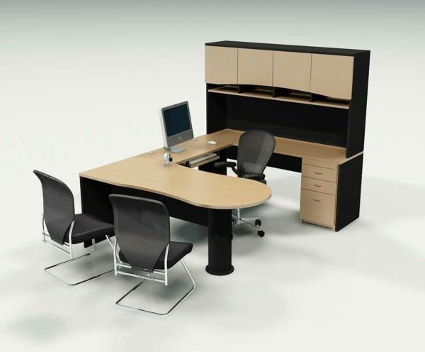 Ergonomie am Arbeitsplatz büroeinrichtung büromöbel eckschreibtisch