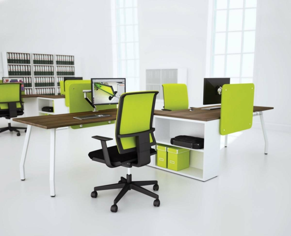 Ergonomie am Arbeitsplatz moderne büromöbel home office design