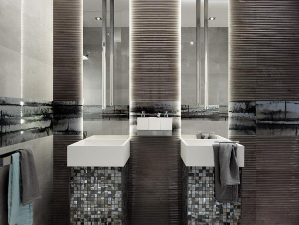 Evoque mosaik glanz grau waschbecken