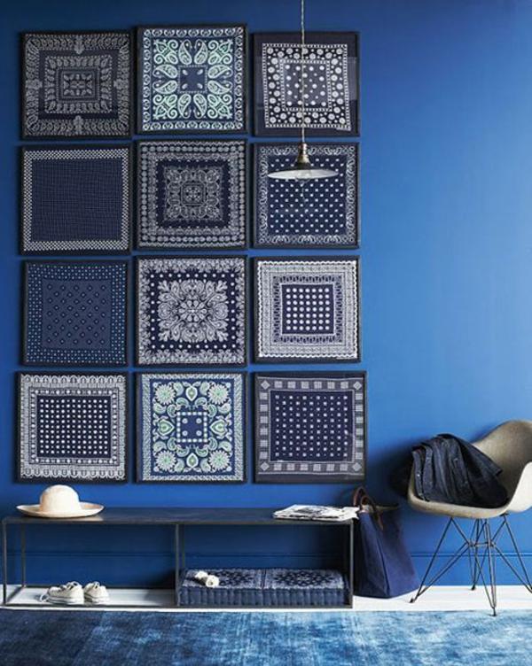 Farbgestaltung im Wohnzimmer Farbideen Wohntrends 2015 blau