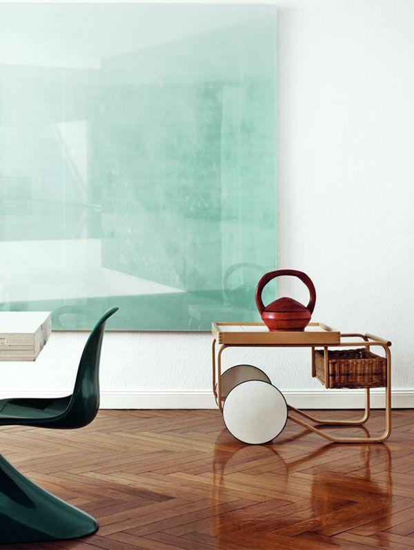 Farbgestaltung im Wohnzimmer Farbideen Wohntrends 2015 minzgrün wand