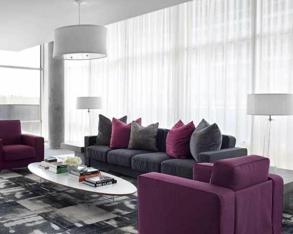 wohnzimmer trends 2015:Farbgestaltung im Wohnzimmer Farbideen Wohntrends 2015 sofa kissen