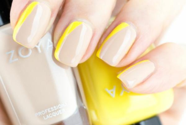 Fingernägel Design bilder gelb