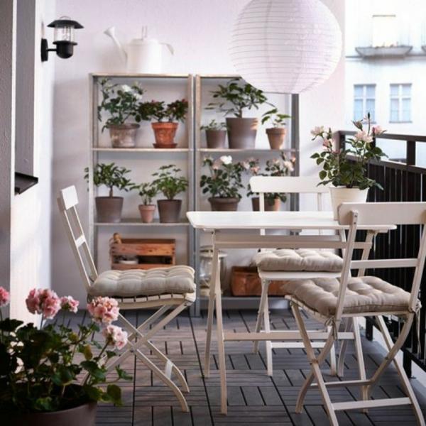 basteln kleiner balkon gestalten klappbar möbel