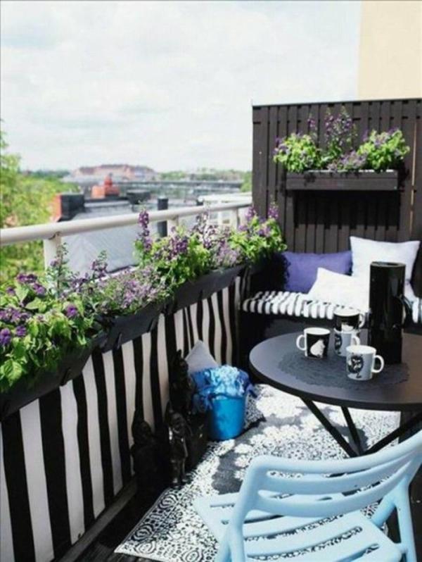 Frühlingsdeko basteln kleiner balkon gestalten urban