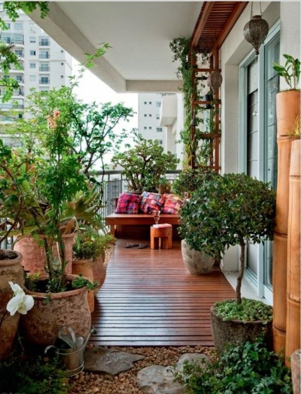 basteln kleiner balkon gestalten Frühlingsdeko