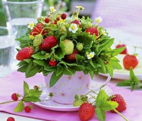 Frühlingsdeko basteln schöne Gartenideen zum Selbermachen festlich