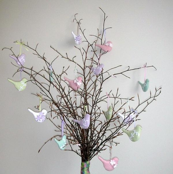 Frühlingsdeko basteln schöne Gartenideen zum Selbermachen idee