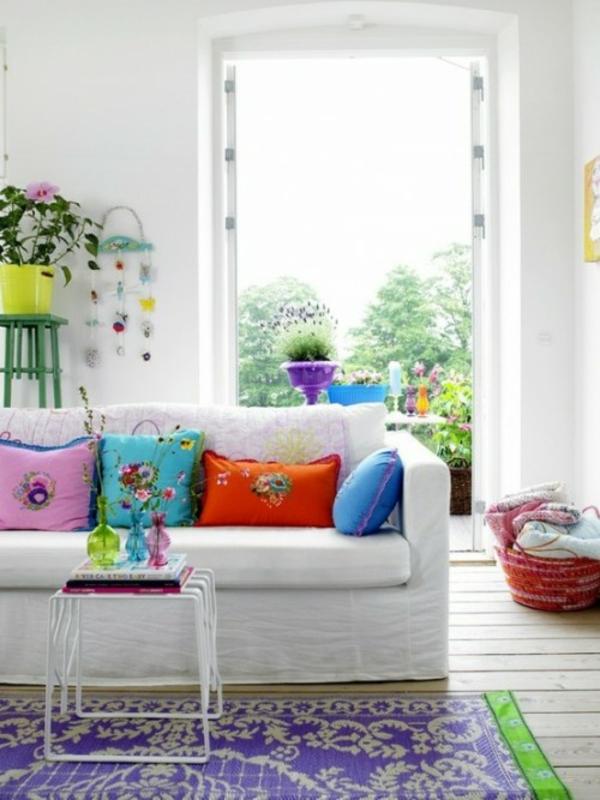 Frühlingsdeko basteln schöne Gartenideen zum Selbermachen sofa
