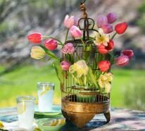 Frühlingsdeko basteln – 33 schöne Gartenideen zum Selbermachen