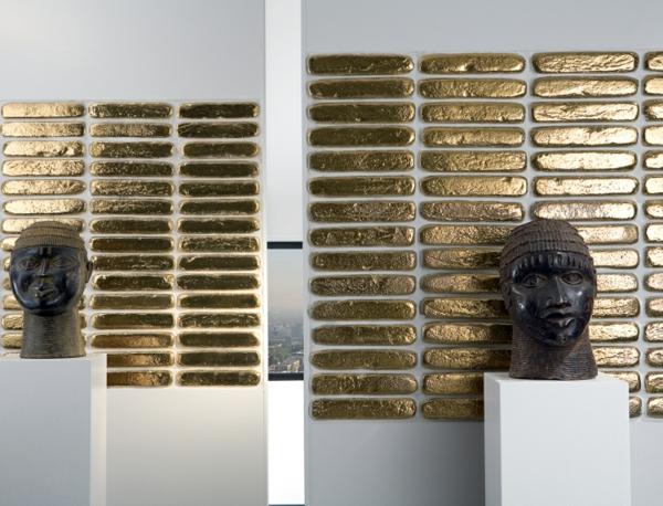 Jewels Oro standbild  Feinsteinzeug Fliesen aus Italien schein gold