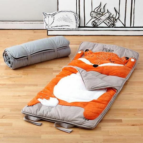 Kinderschlafsäcke schlafzimmer kinderzimmer outdoor grau orange fuchs