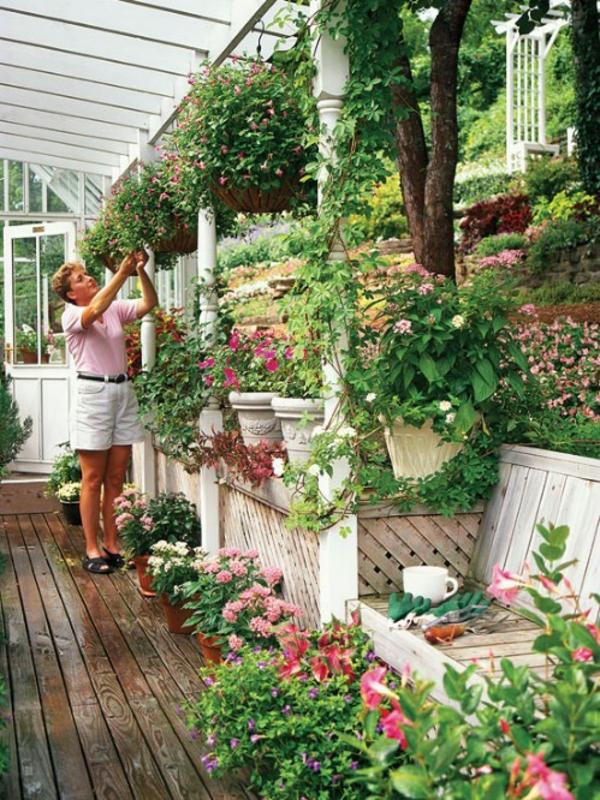 Kleiner Garten Ideen gartenideen bodenbelag holz