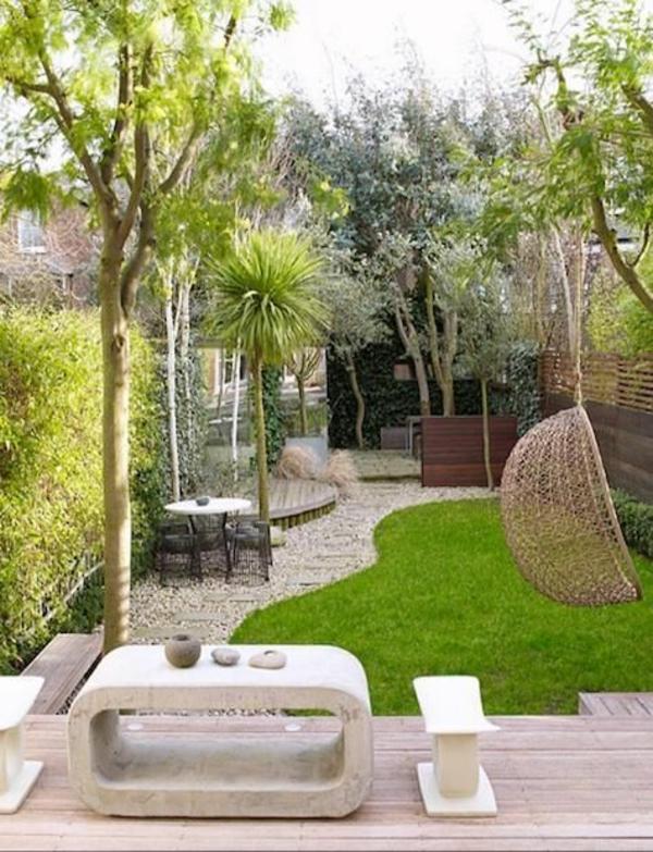 Kleiner Garten Ideen gartenideen gartengestaltungsideen beton bank
