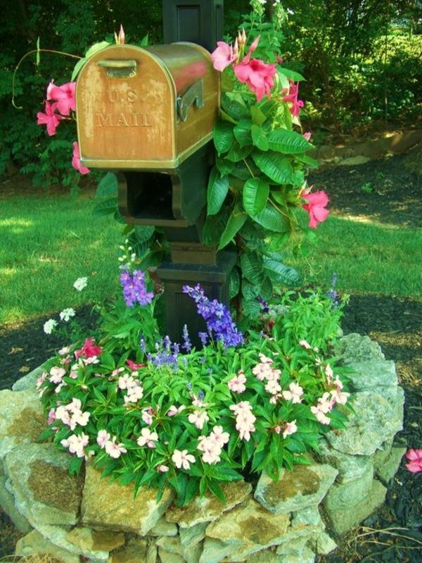 Kleiner Garten Ideen gartenideen gartengestaltungsideen postkästen