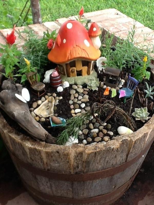 Kleiner Garten Ideen gartenideen gefäß bodenerde