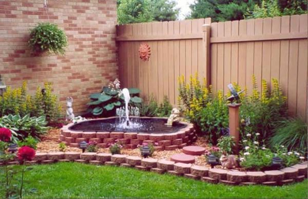 Kleiner Garten Ideen gartenideen holz zaun